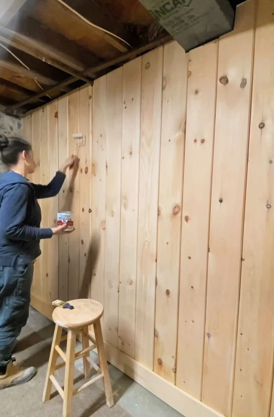 sealing shiplap with poly