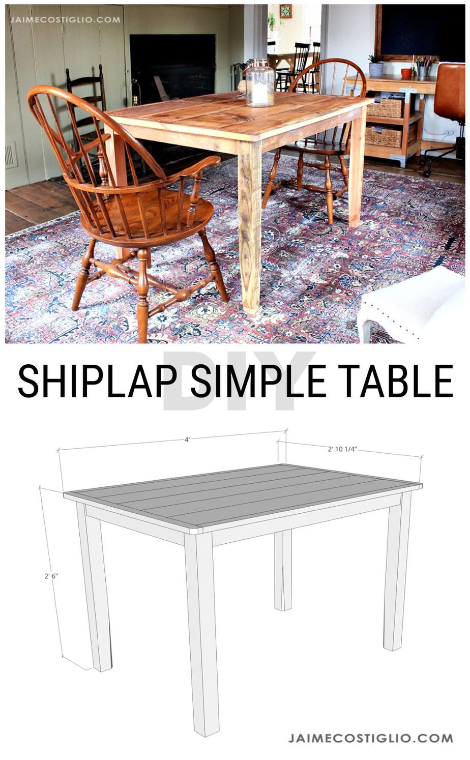 shiplap style table plans