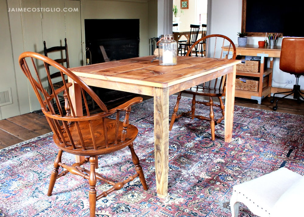 simple table tapered legs