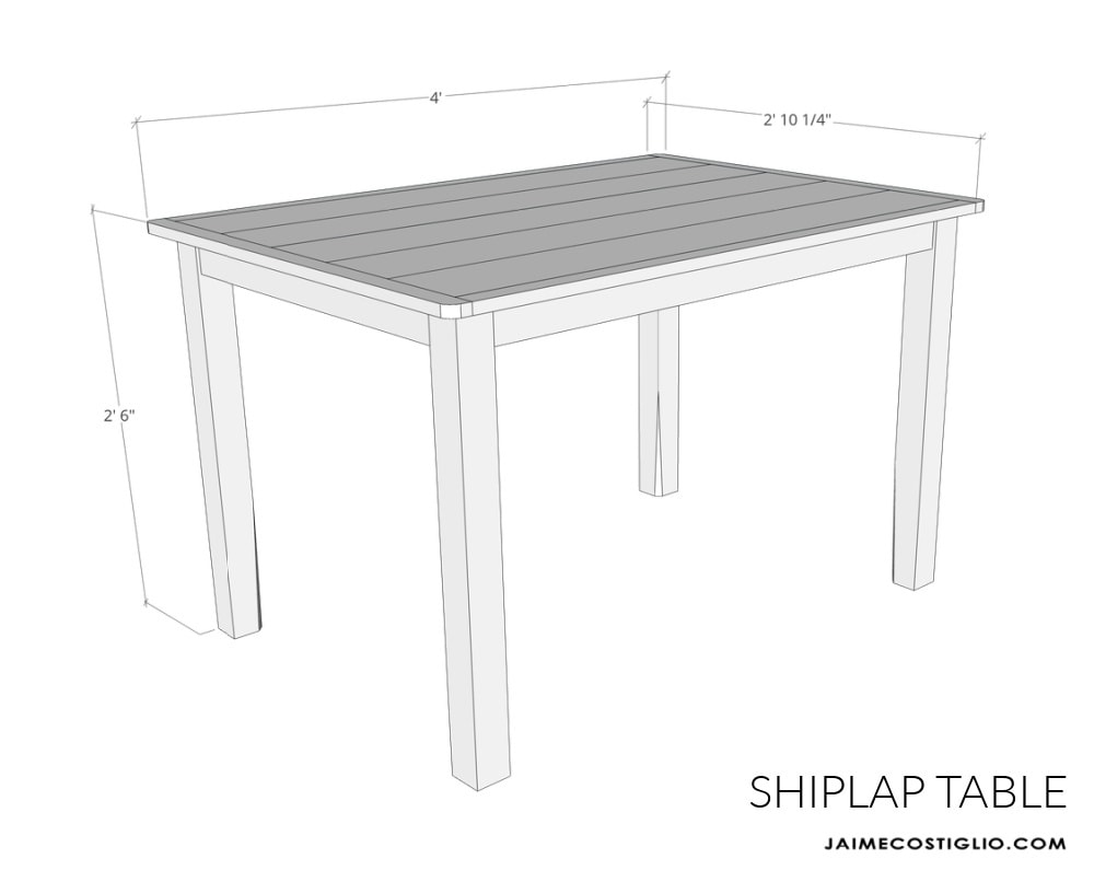 simple table plans sketch