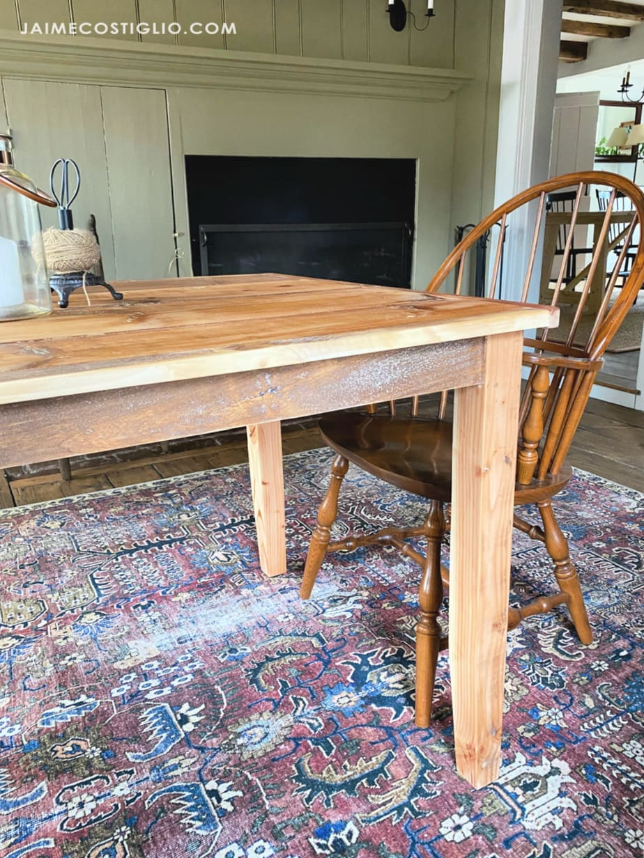 shiplap scrap wood table
