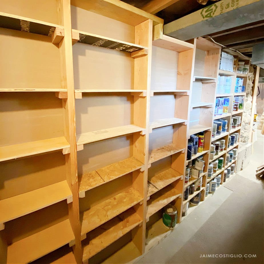 stud storage shelves