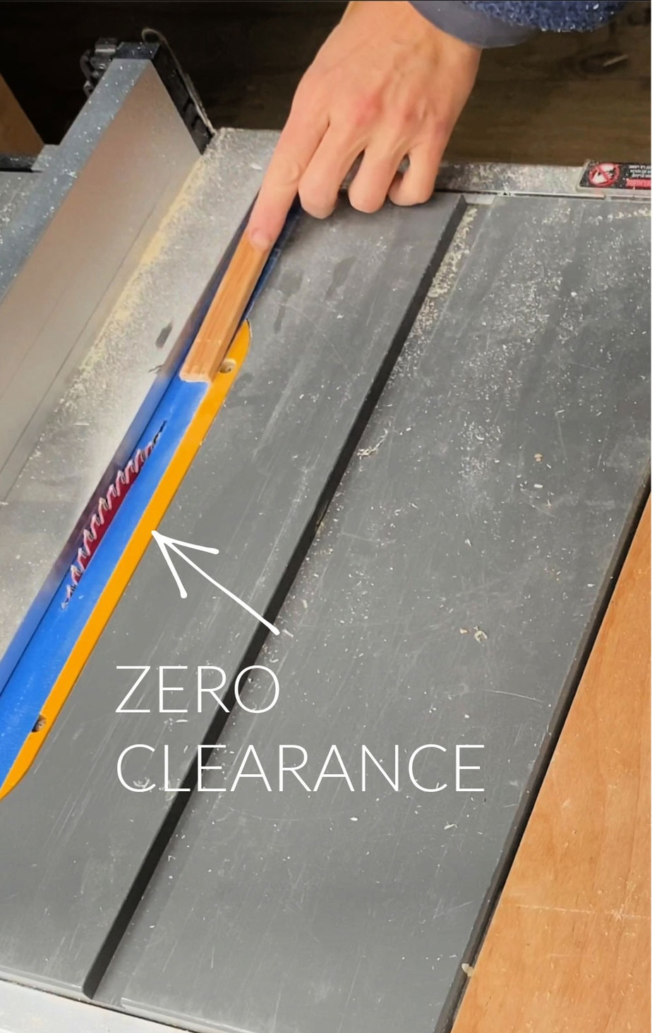 zero clearance on table saw