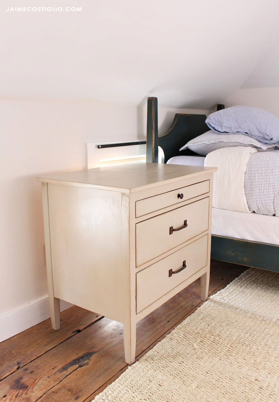 side view bedside table