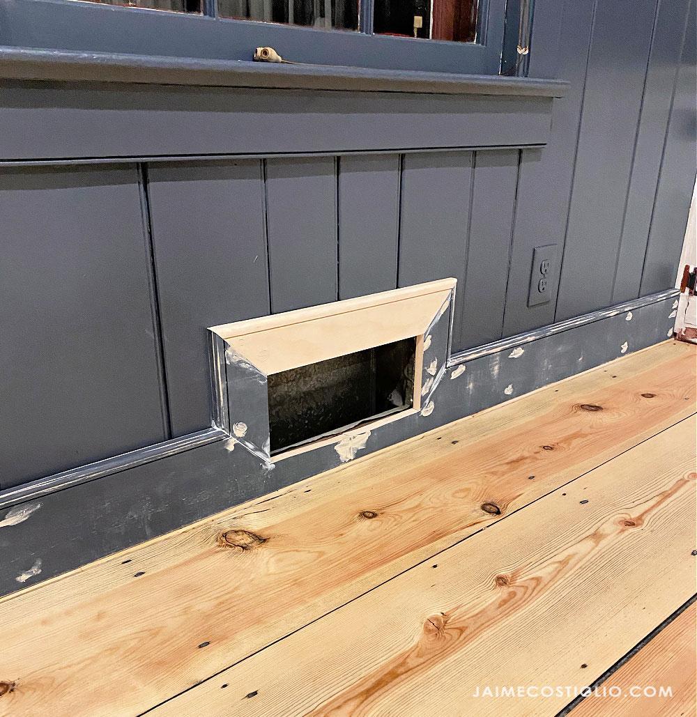 baseboards installed