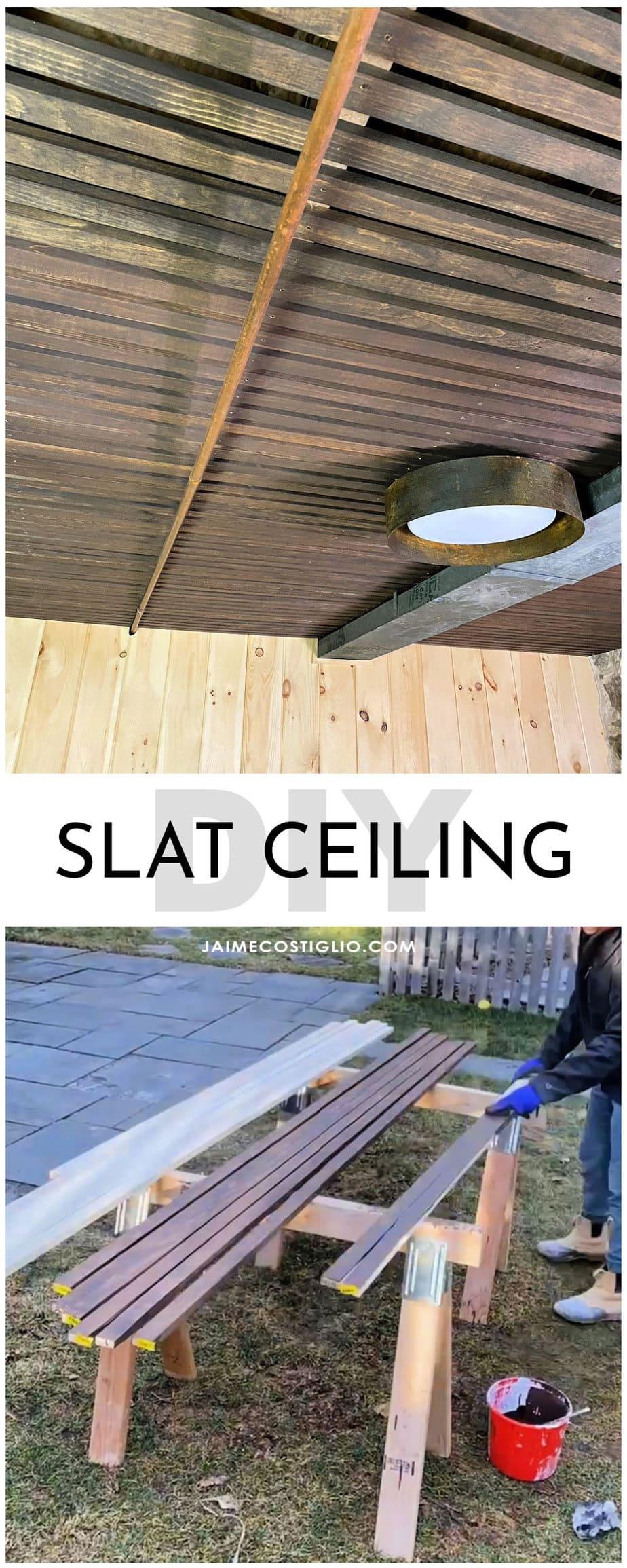 diy slat ceiling