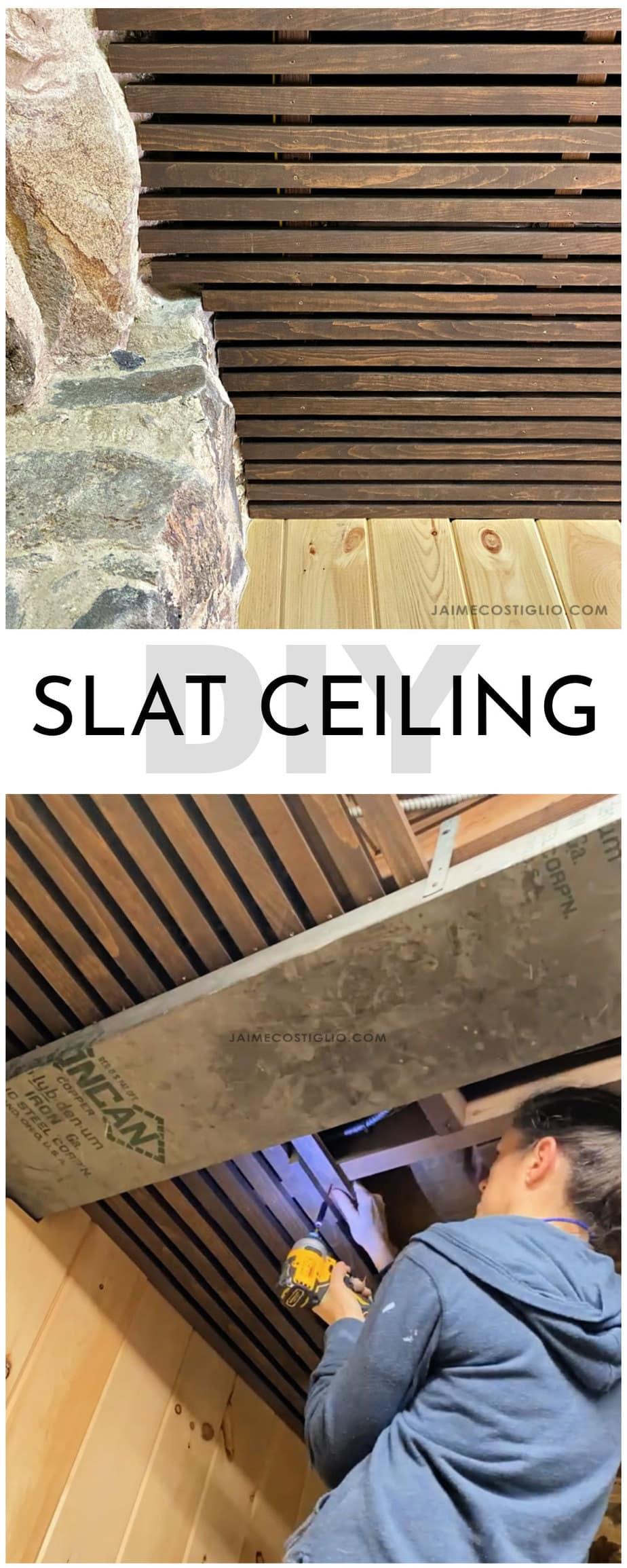diy slat style ceiling