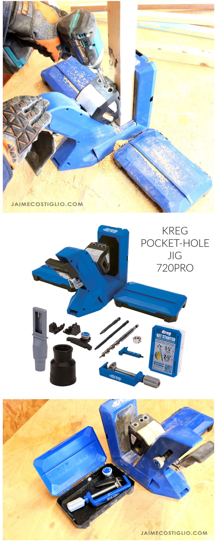 kreg pocket hole jig 720pro collage