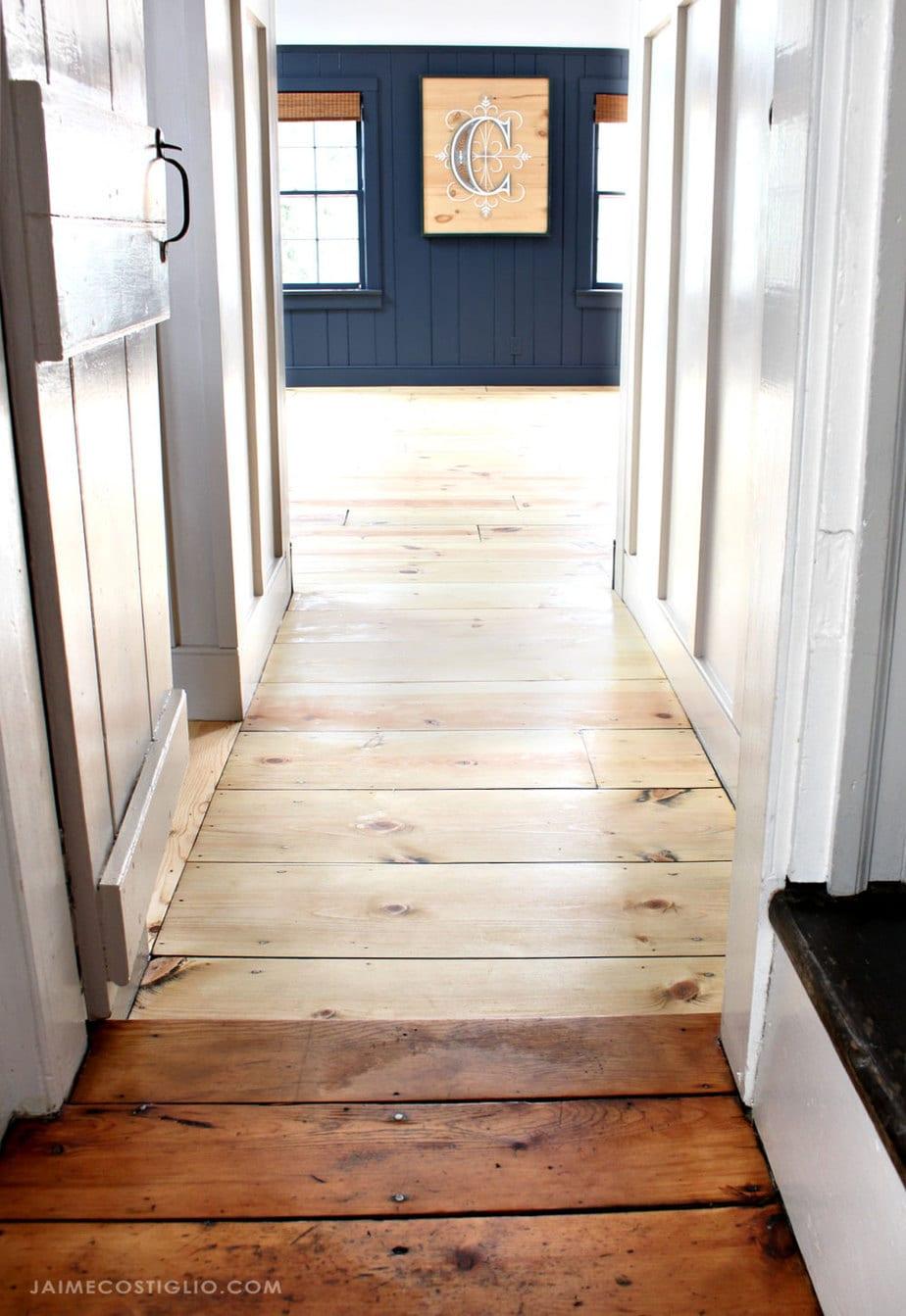pine floor comparison