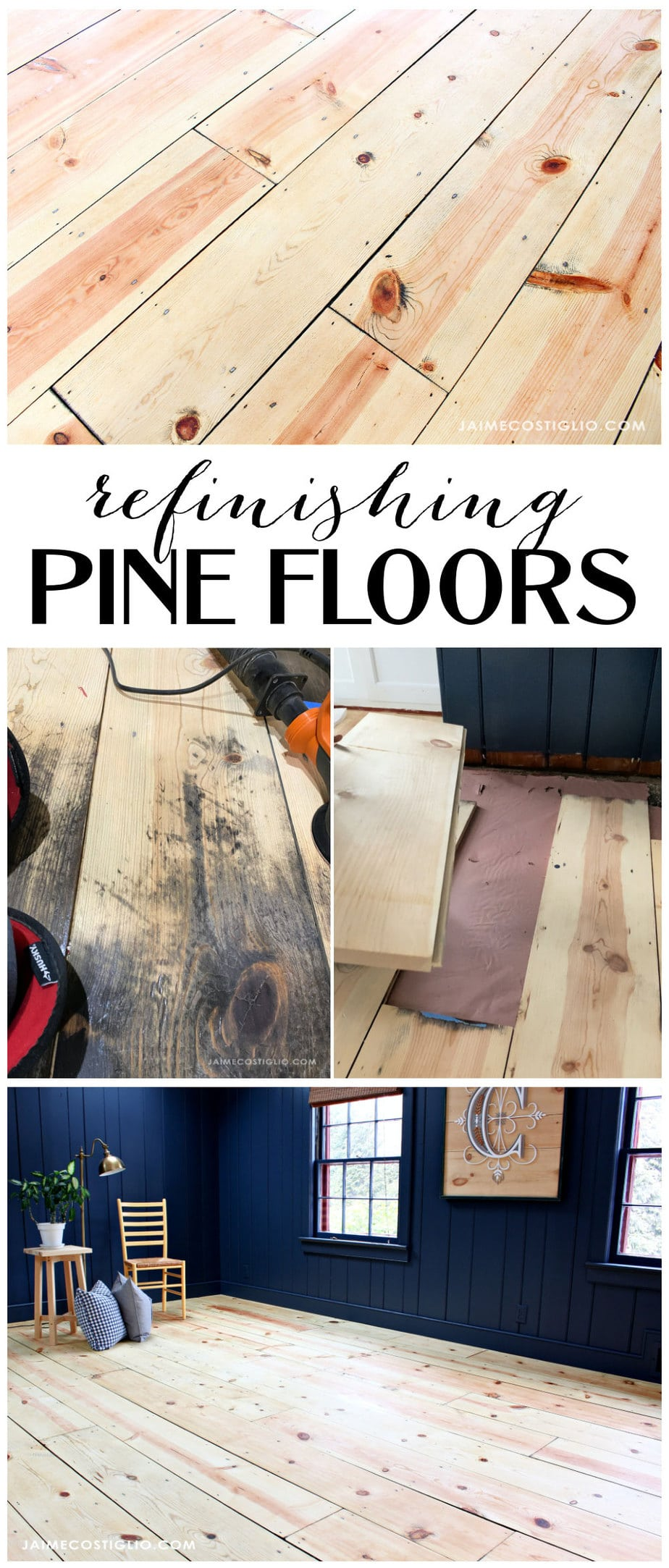 refinishing pine floors pinterest