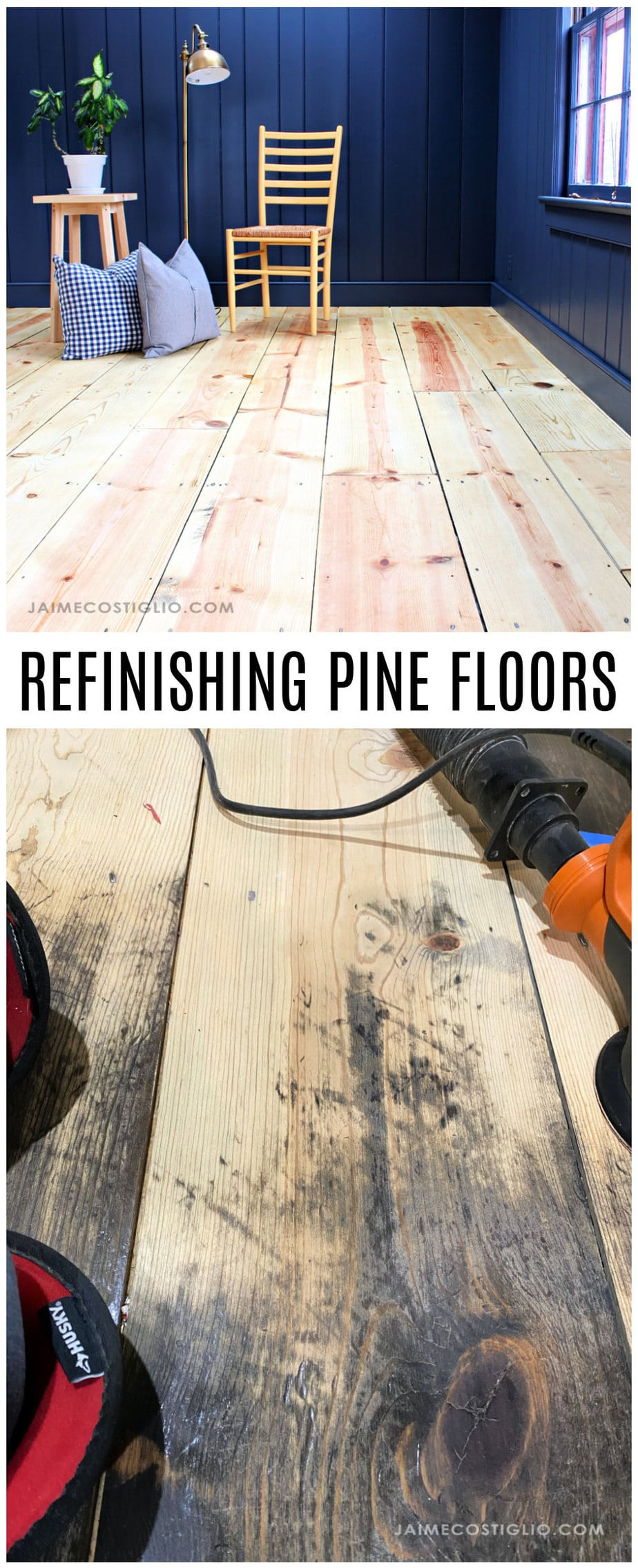 how to refinish pine floors
