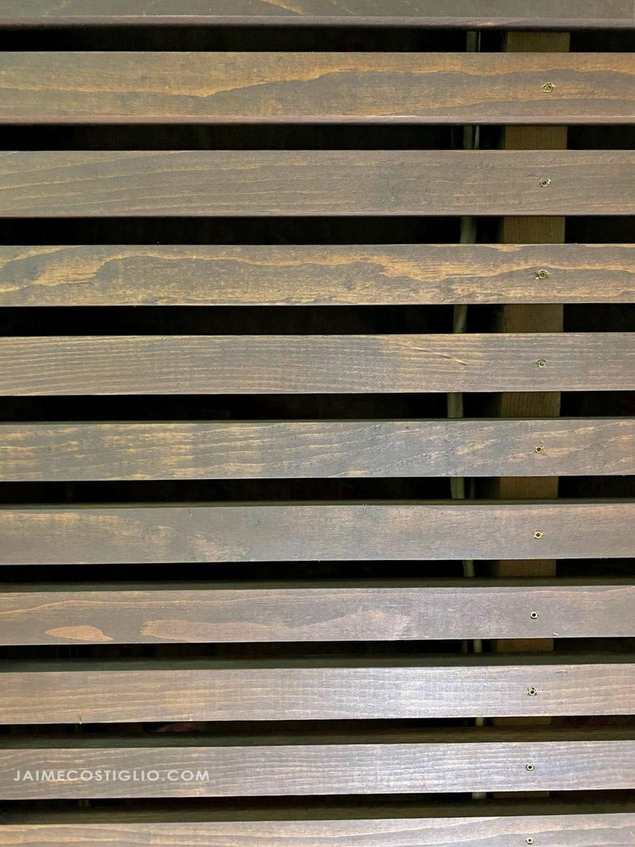 wood slats on joists
