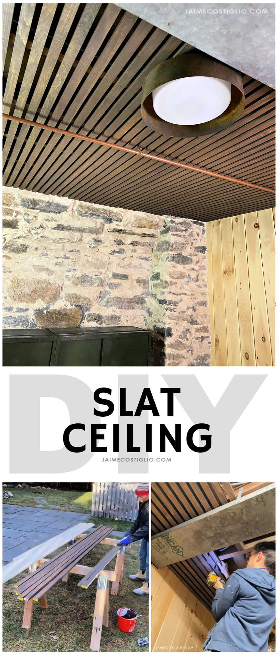 slat ceiling how to