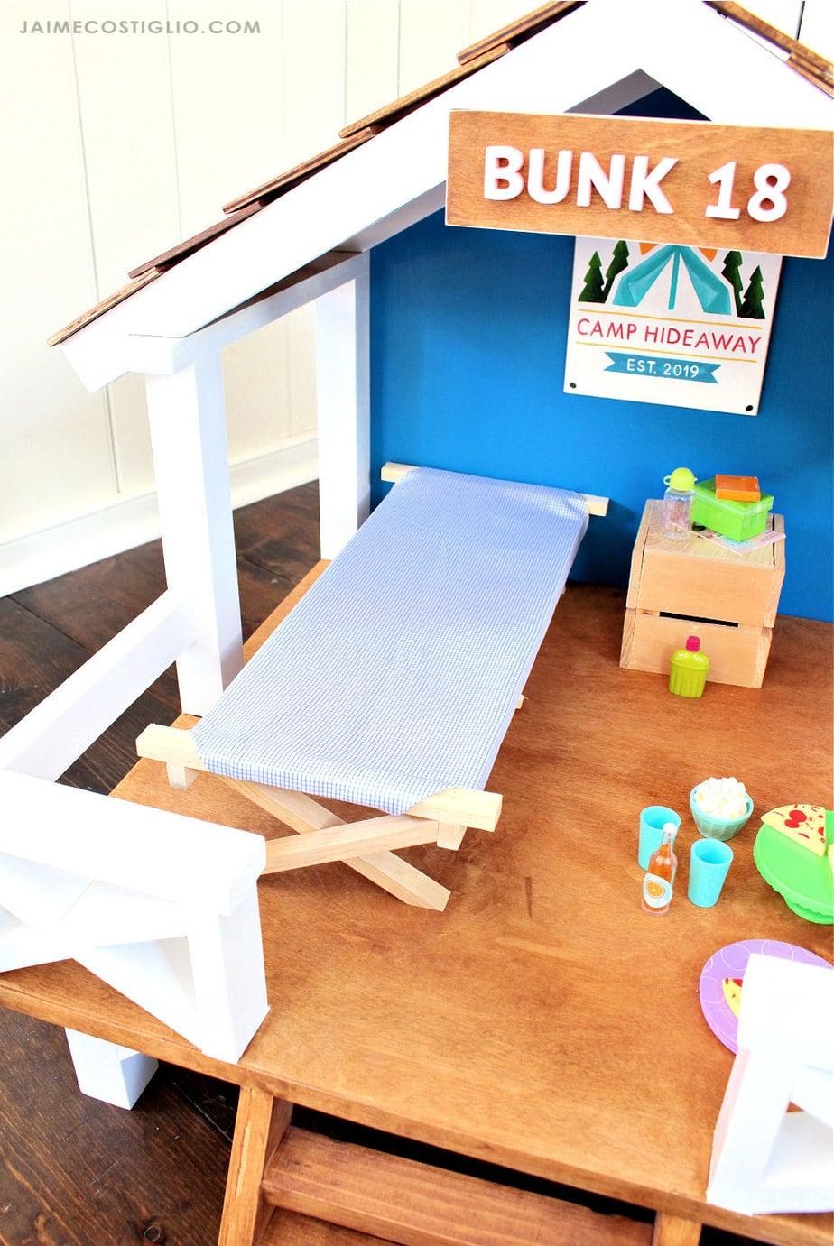 18 inch doll cot inside hideaway