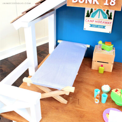 18 inch doll cot feature