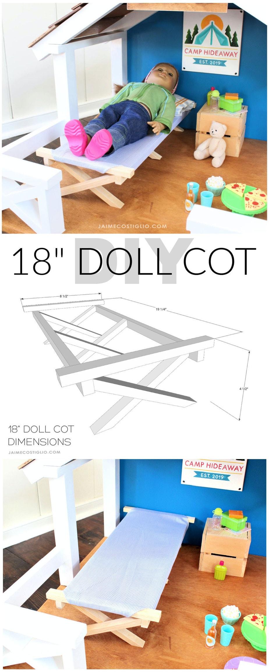 diy 18 inch doll cot