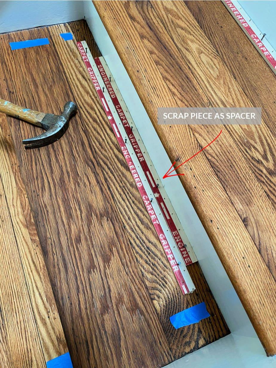 spacer for carpet tack strips
