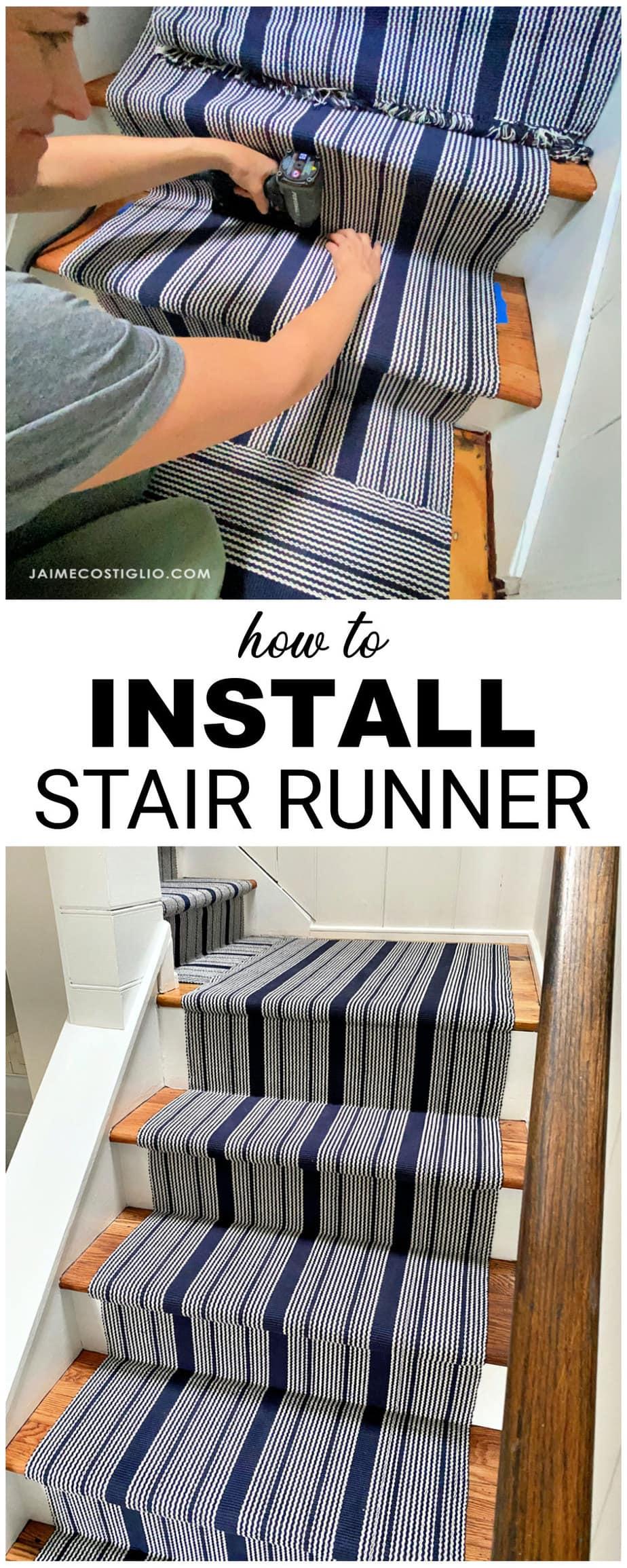installing a stair runner