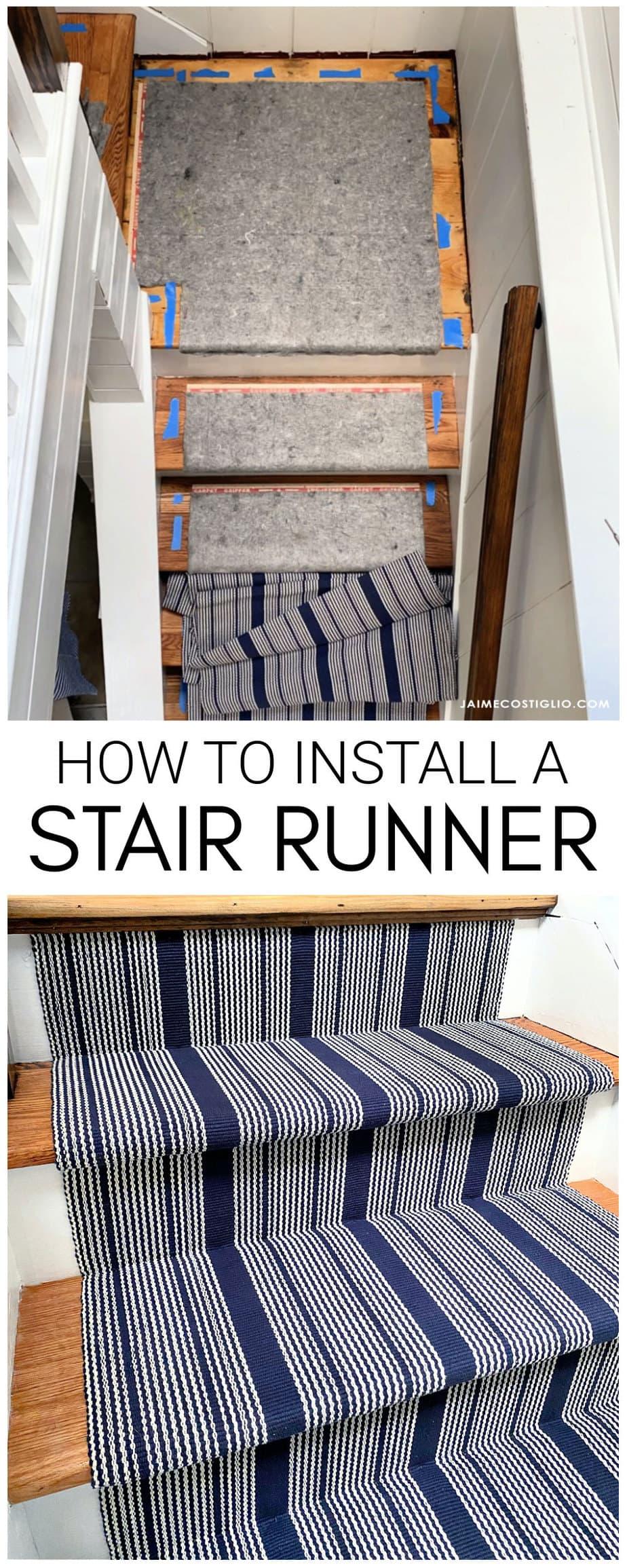 installing a woven stair runner