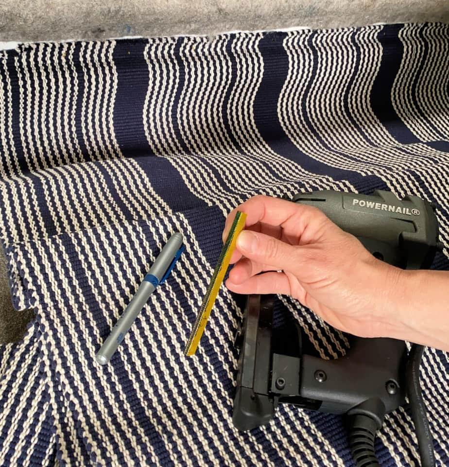 blue sharpie on staples