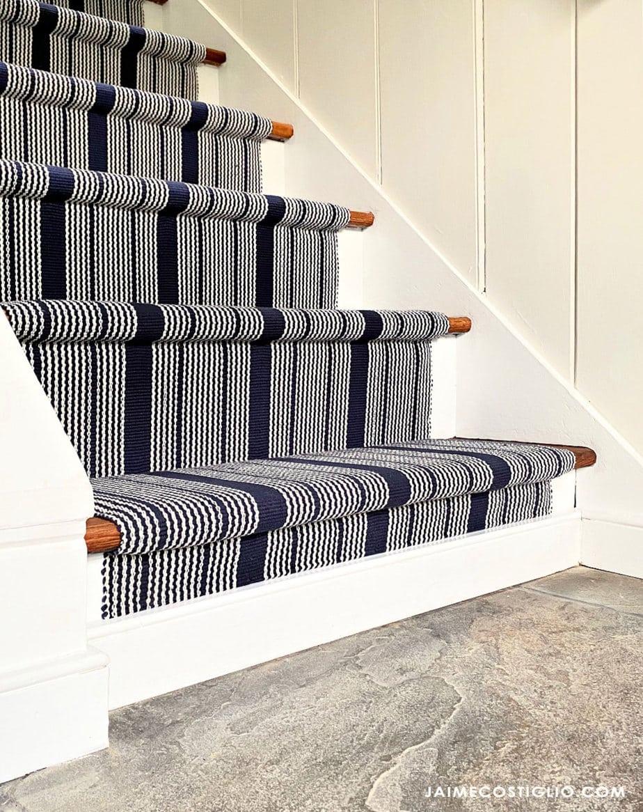 playroom stair runner with bluestone