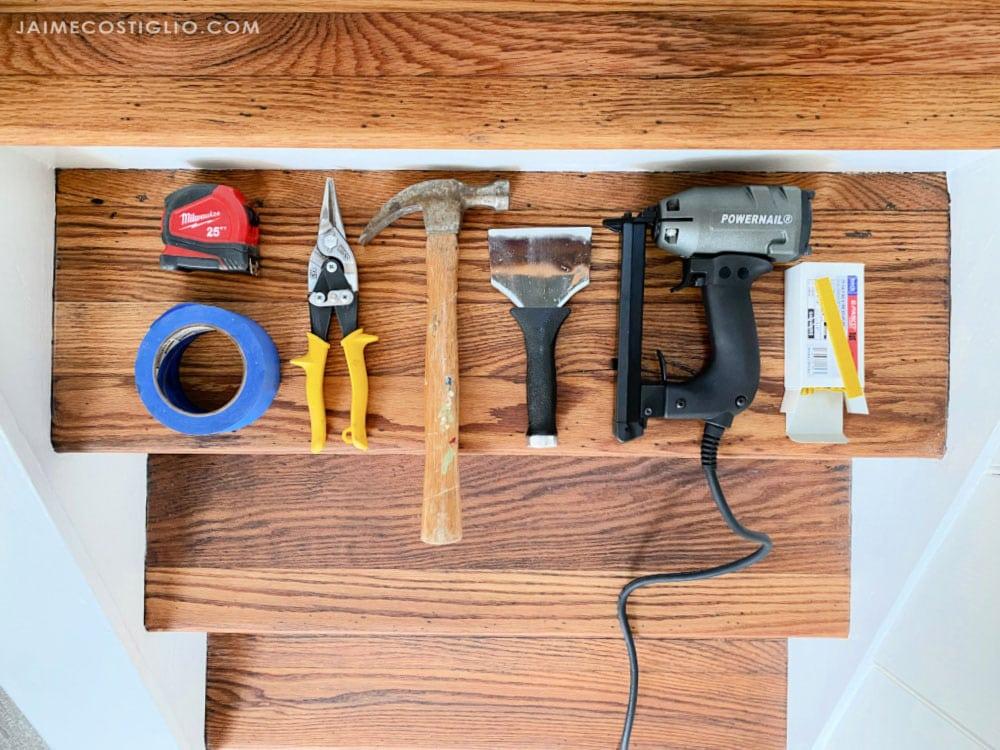 stair runner installation supplies