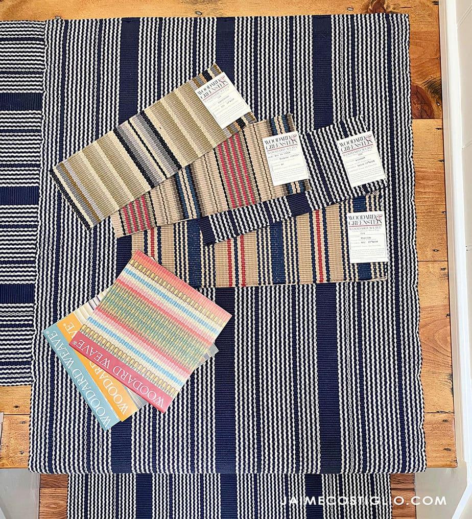 woodward weave runner samples