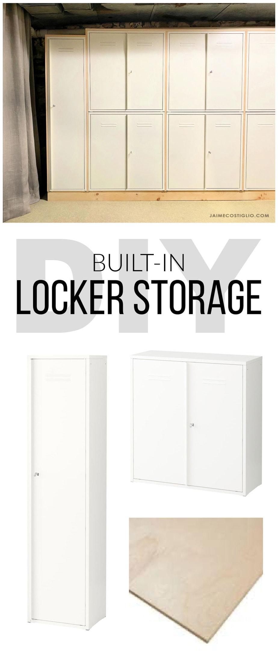 diy built in locker storage