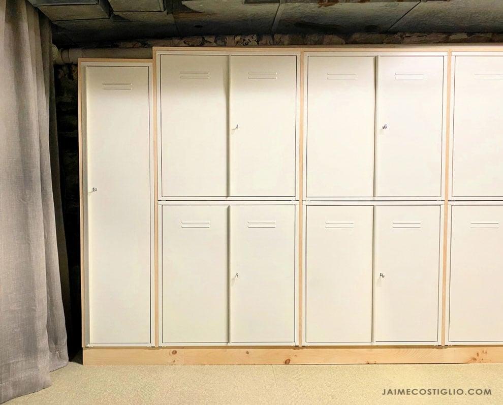 locker storage wall