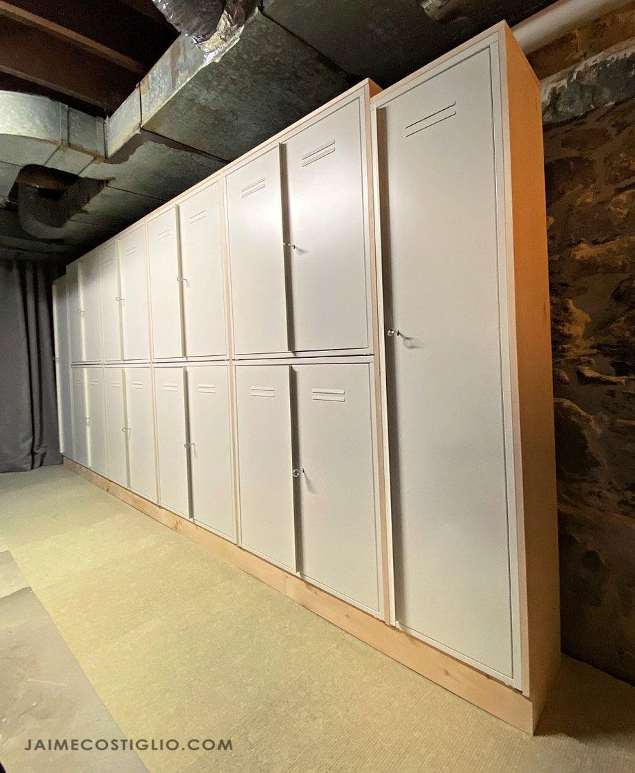 concealed basement storage