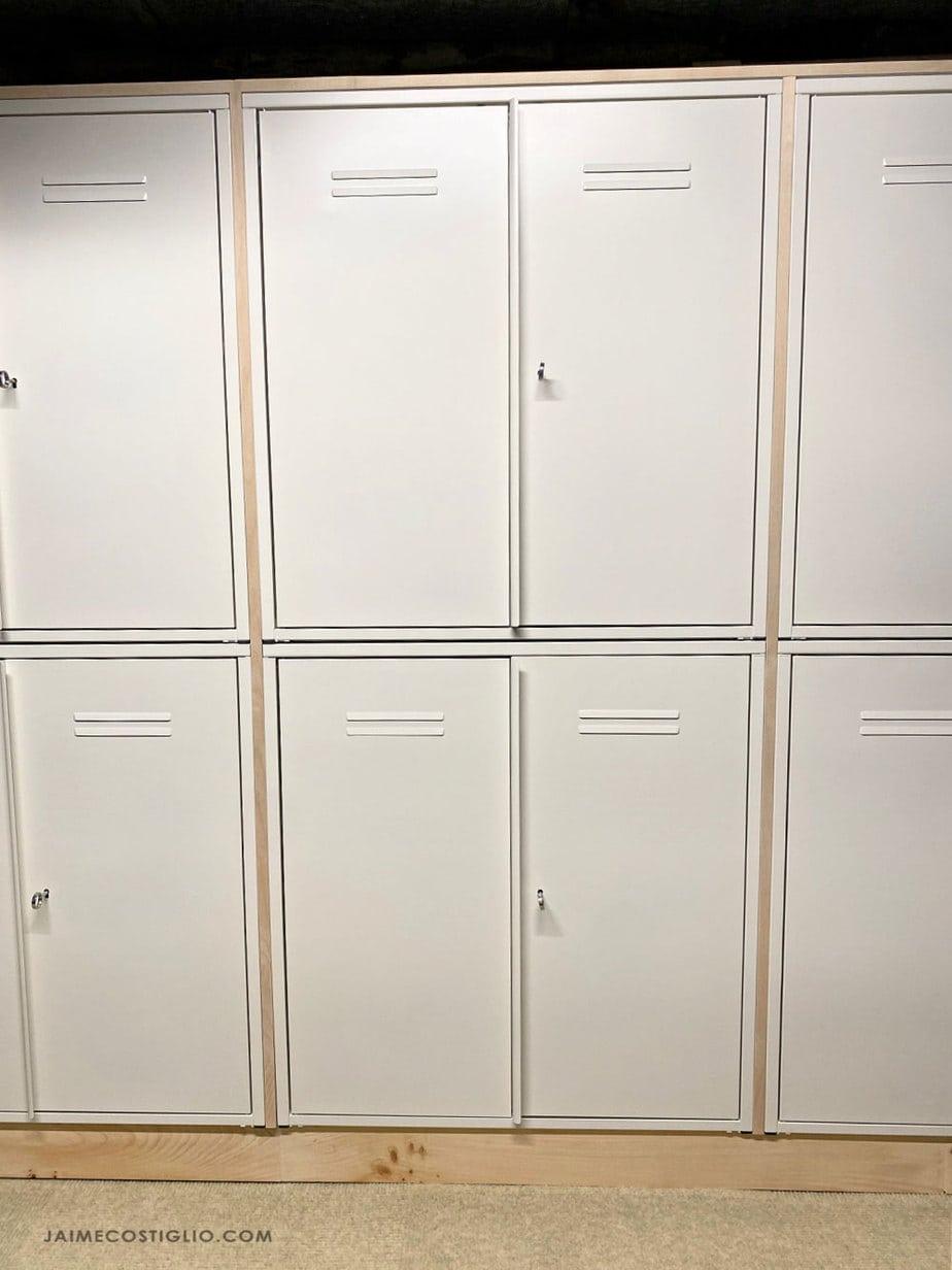 locker storage in basement