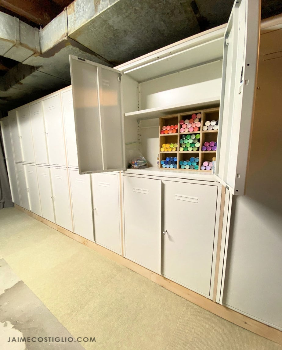 metal lockers for craft storage