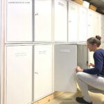 DIY Built In Locker Storage Wall