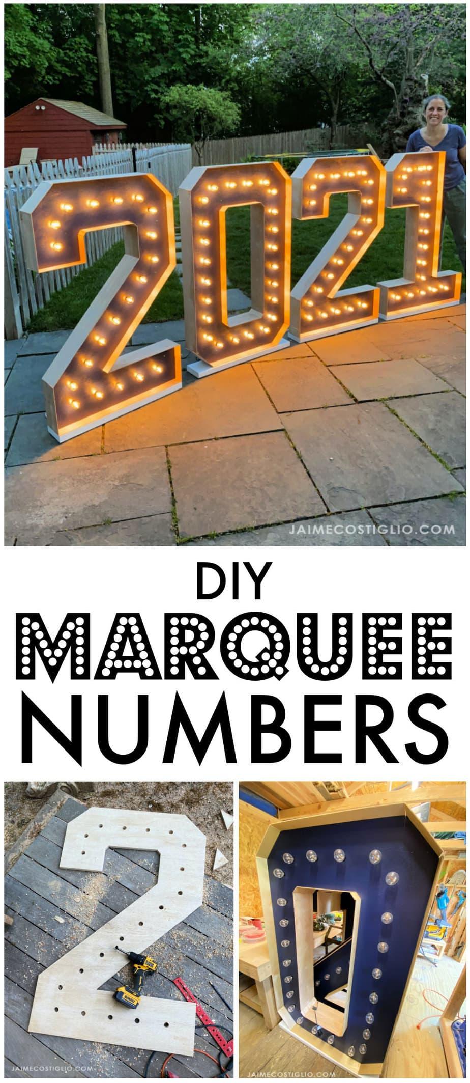 marquee numbers tutorial