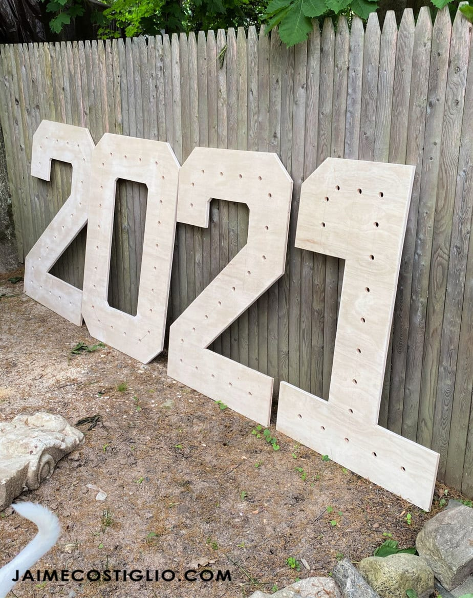 plywood marquee numbers