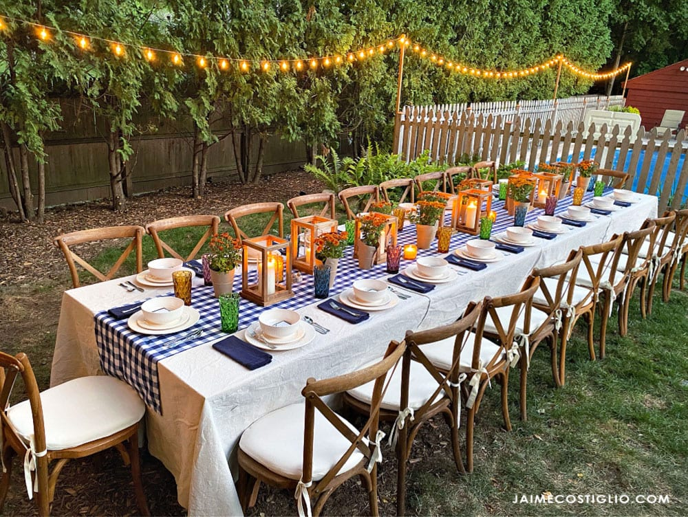 outdoor dining diy table