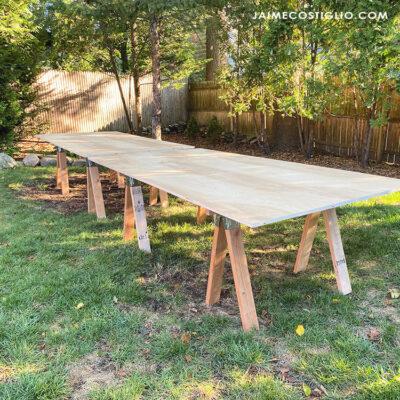 sawhorse base tables