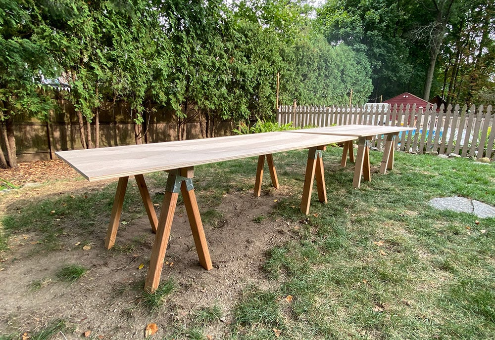 easy large outdoor dining table
