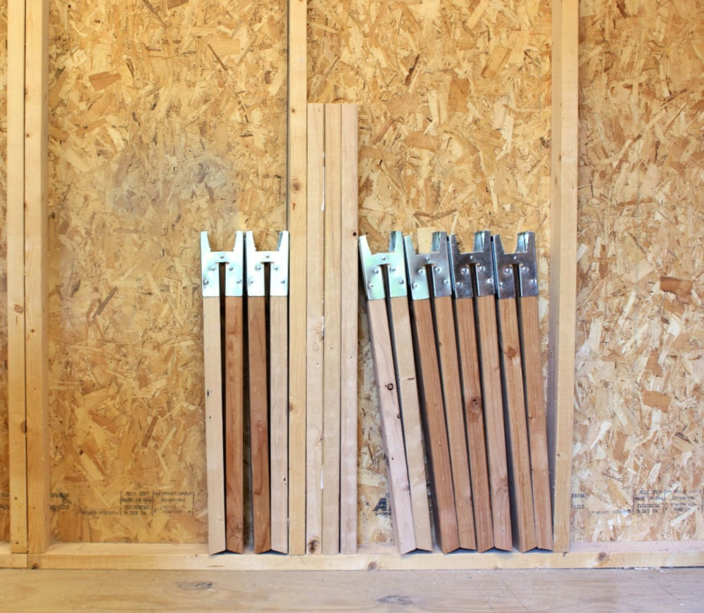 sawhorse storage in wall cavity